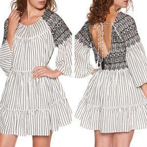 Free People B&W Lola Striped Tunic Dress